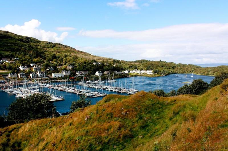 Le port de Tarbert sur le Loch-Fyne