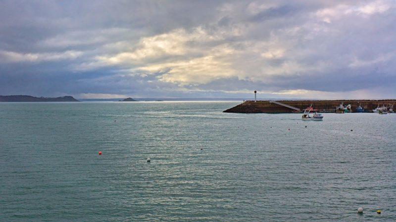 Temps couvert sur le port d'Erquy
